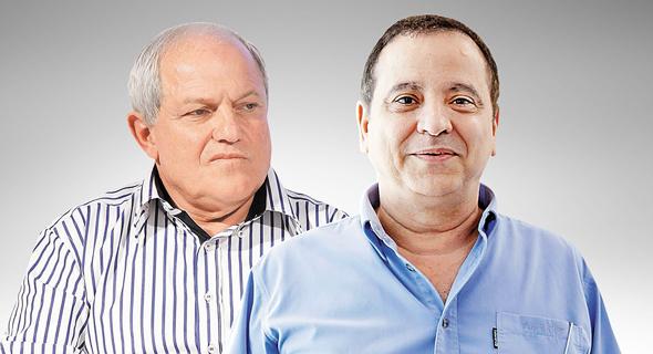 מימין קובי מימון ושר הרווחה חיים כץ, צילום: אוראל כהן, עמית שעל