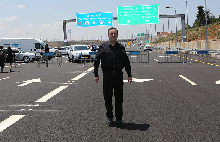 שר התחבורה ישראל כץ בפתיחת כביש 531
