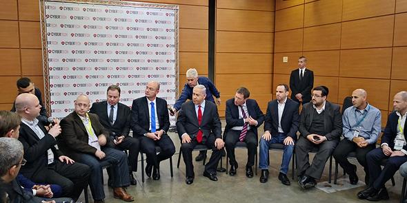 ראש הממשלה בפורום היזמים בכנס , צילום: רפאל קאהאן