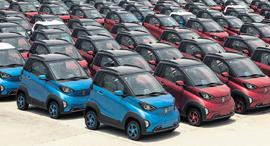 כלי רכב חשמליים מדגם E100 של ב אוג'ון מותג משותף של GM SAIC Motor, צילום: בלומברג