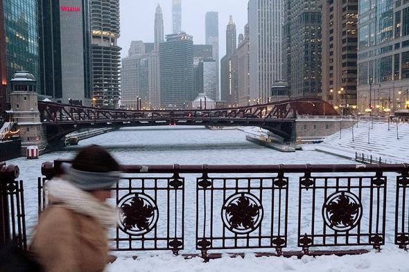 גל הקור בשיקגו, ינואר 2019, צילום: רויטרס