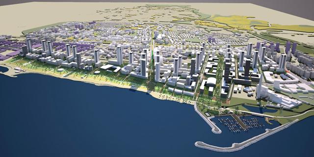 תוכנית שדה דב: גובה המגדלים הקרובים לים יוגבל ל-25 קומות
