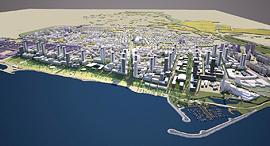 הדמיית פרויקט הבנייה בשדה דב, איור: רשות מקרקעי ישראל/ארי כהן אדריכלות ובינוי ערים