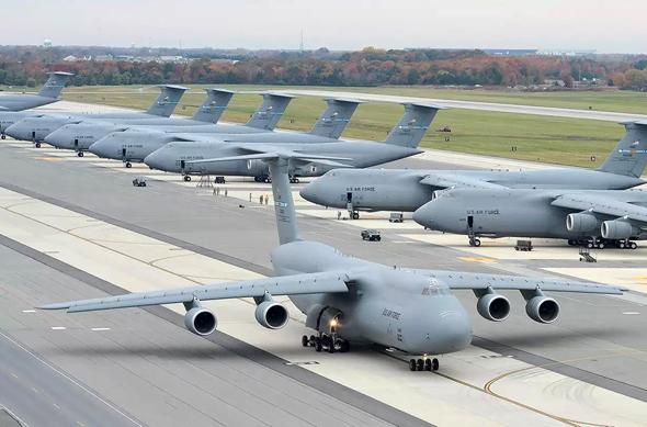 מטוס מטען סופר-טרנספורטר איירבוס הקברניט, צילום: USAF