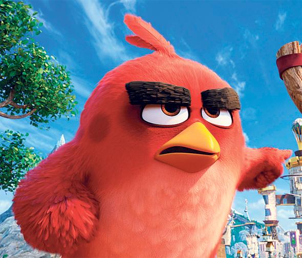 """אנגרי בירדז. """"ציפור מזיזה ראש באופן שונה מבן אדם. צריך ללמוד את זה"""", צילום: Sony Pictures"""
