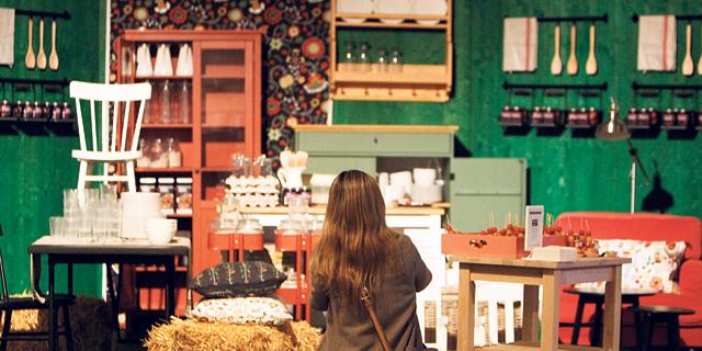 חנות פופ אפ של איקאה במדריד ספרד, צילום: אי פי איי