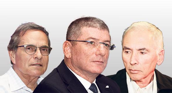 מימין: דוד אבנר, אליעזר שקדי ואמנון דיק, צילום: אוראל כהן
