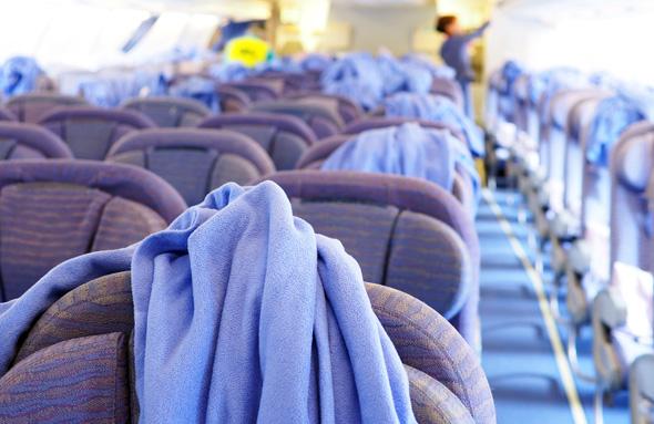 שמיכות לאחר טיסה