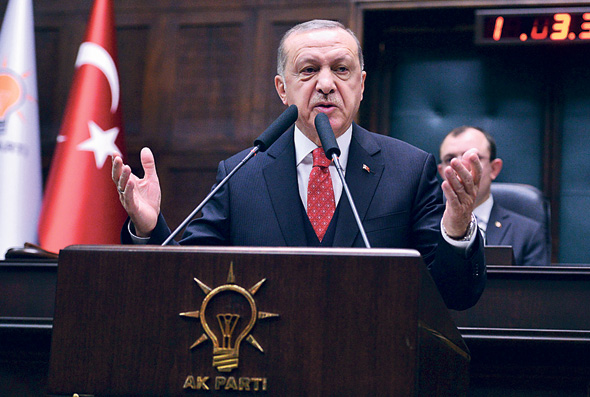 נשיא טורקיה, רג'פ טייפ ארדואן. הלירה הטורקית בצניחה