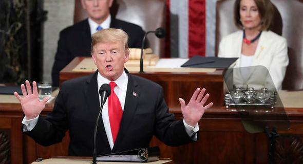 דונלד טראמפ ב נאום מצב האומה, צילום: AP