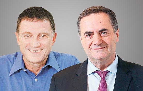 מימין ישראל כץ ו יולי אדלשטיין, צילומים: אלכס קולומויסקי , אוהד צויגנברג