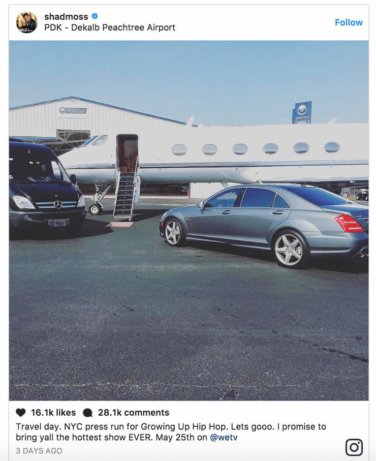 הצילום המזויף של הראפר , צילום: Instagram