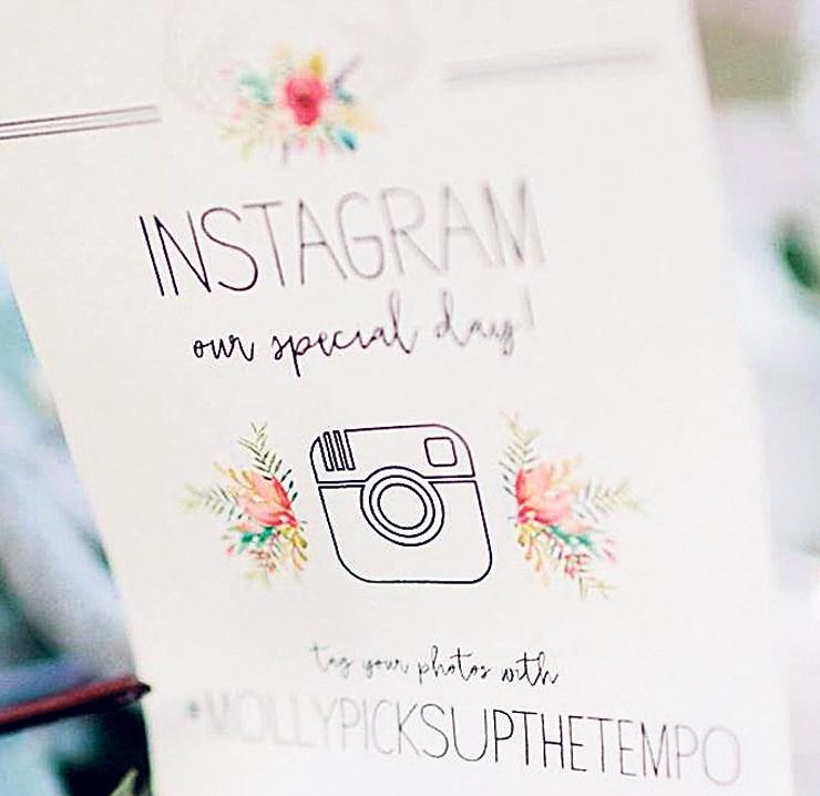 הוראות תיוג לאורחי חתונה מטעם Happily Ever #Hashtagged, צילום: Instagram(happilyeverhashtagged)