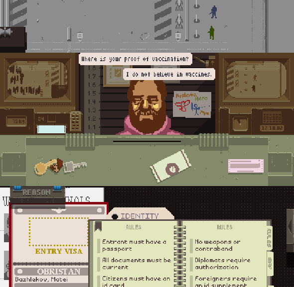 """Papers, Please!"". הכיף שבבירוקרטיה דכאנית"