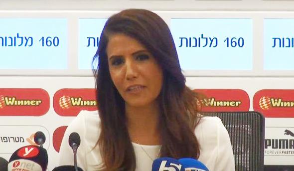 אלונה ברקת ב מסיבת עיתונאים, צילום: בראל אפרים