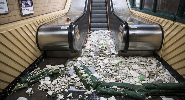 נזקי טייפון מנגקוט בהונג קונג, צילום: בלומברג