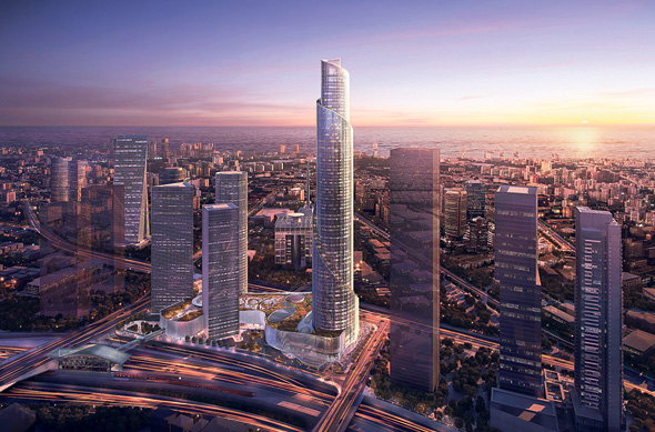 The fourth Azrieli tower (illustration). Photo: KPF
