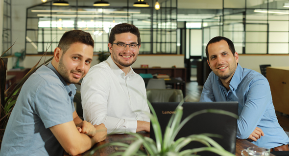 Axonius co-founders Avidor Bartov (left), Dean Sysman, and Ofri Shur. Photo: Avishai Finkelstein