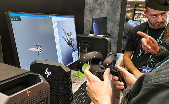 מערכת VR למהנדסים מודגמת על פלטפורמה של HP