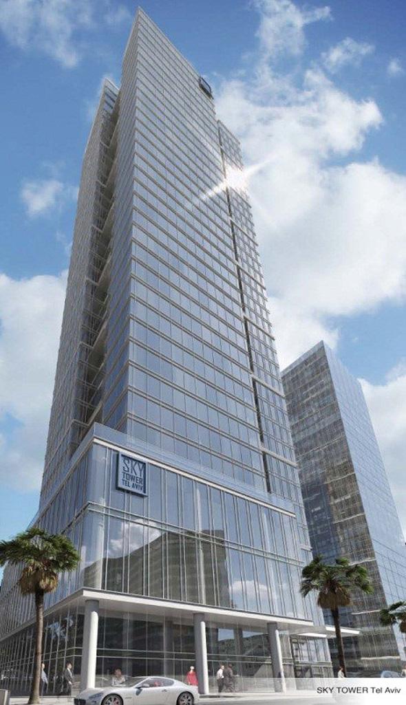 """מגדל המשרדים והמסחר סקיי טאוור תל אביב. """"המתחם הבא"""" של העיר , הדמיה: באדיבות קבוצת סקיי טאוור"""