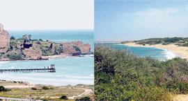 חוף פלמחים ומבצר עתלית, צילום: אלעד גרשגורן, איל מיטרני רשות הטבע והגנים