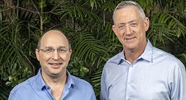 מימין: אבי ניסנקורן ובני גנץ, צילום: הדרי