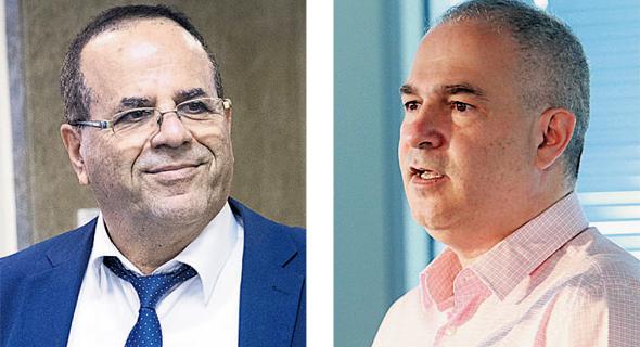 """מימין: מנכ""""ל בזק דודו מזרחי ושר התקשורת איוב קרא, צילומים: אוראל כהן, יונתן זינדל"""