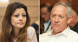 בני גנץ ואורלי לוי-אבקסיס, צילום: עומר מסינגר, אוראל כהן