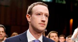 """מארק צוקרברג מייסד מנכ""""ל פייסבוק עדות בקונגרס 2018 , צילום: רויטרס"""