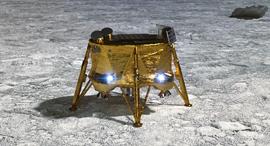 הדמייה חללית SpaceIL נחיתה על הירח , צילום: IAI