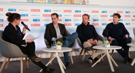 From right: Roel Janssen, Filip Dames, Daniel Shinar and Hagar Ravet