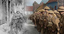 מוסף שבועי 21.2.19 שיבת המלך מתוך כרזת סרט דוקומנטרי על מלחמת  העולם השניה הם כבר לא יזדקנו, צילום: IWM