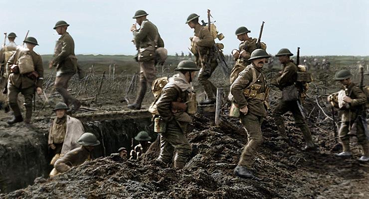 """מתוך """"הם כבר לא יזדקנו"""". האינטימיות של תיעוד החיים בשוחות בסרט מפעימה, צילום: Warner Bros. Pictures - © 2018 Imperial War Museum"""