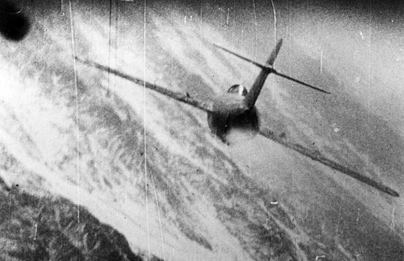 מיג 15 במצלמת תותח של מטוס סייבר