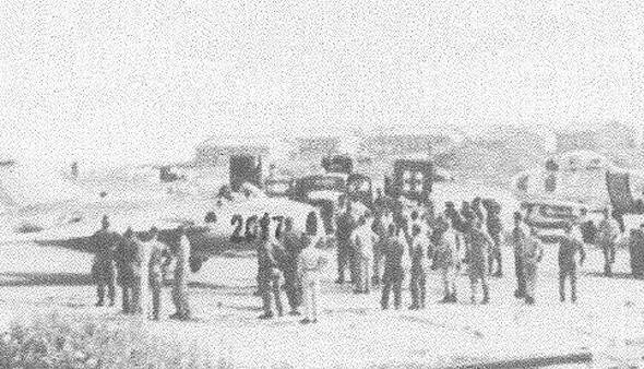 מטוסו של נו קום סוק, ביום נחיתתו בקימפו