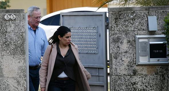 בני גנץ לאחר הפגישה בביתו של הלל קוברינסקי, צילום: יאיר שגיא