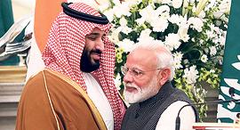 ראש ממשלת הודו נרנדרה מודי ומוחמד בן סלמאן , צילום: EPA