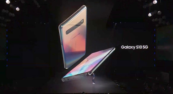 דגם ה-5G של סמסונג, באירוע חשיפתו