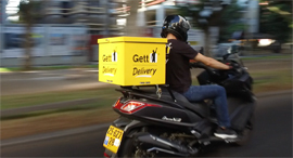 Gett Delivery שליח גט, צילום: Gett Delivery