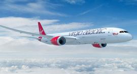 וירג'ין אטלנטיק בואינג 787 מטוס נוסעים, צילום: מ Virgin Atlantic blog