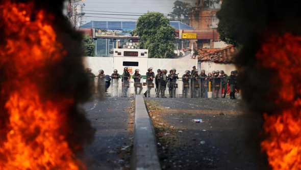 מהומות בגבול ונצואלה, צילום: איי פי