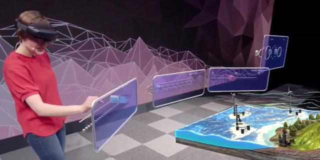 דגם וירטואלי של חוות טורבינות רוח מתומרן דרך הולולנס , צילום: צילום מסך