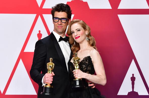 גיא נתיב במאי זוכה אוסקר 2019 ואשתו ג'יימי ריי ניומן