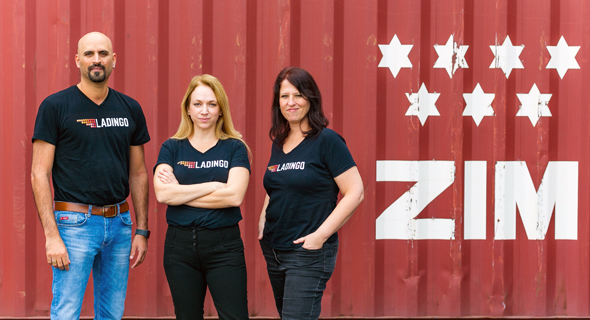 Ladingo co-founders Guy Levy, Hagar Valiano Rips (center), and Ruth Reiner. Photo: PR