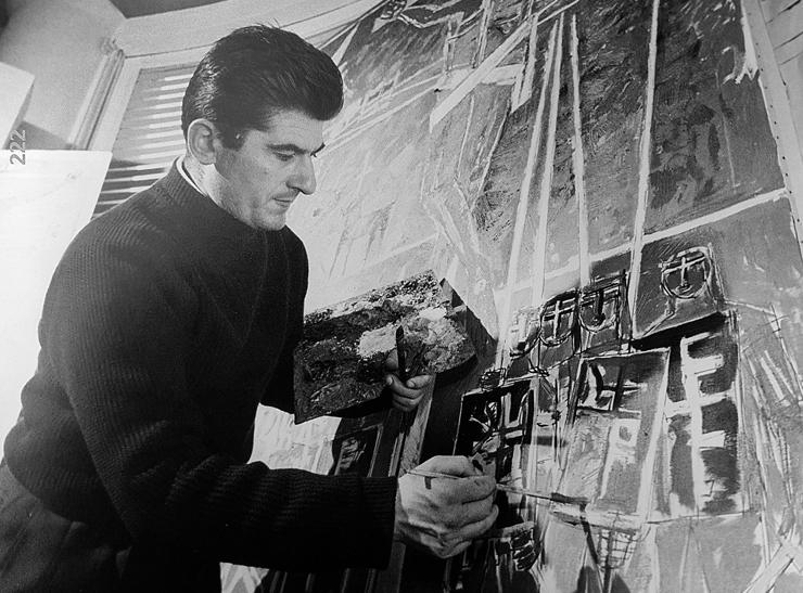 """טמיר המנוח בסטודיו שלו, 1959. """"תמיד אמר:"""