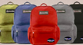 ArmorMe's backpacks. Photo: ArmorMe