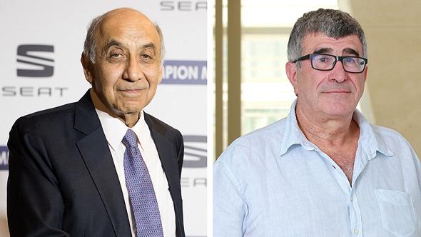 """מימין: מנכ""""ל פז יונה פוגל ויו""""ר אלייד יצחק סוארי"""