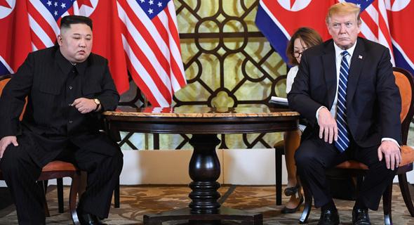 דונלד טראמפ צפון קוריאה קים ג'ונג און ווייטנאם 28.2.19, צילום: Saul LOEB