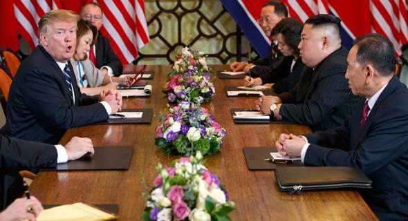 "דונלד טראמפ ארה""ב קים ג'ונג און מנהיג צפון קוריאה ב ווייטנאם 28.2.19, צילום: Evan Vucci"