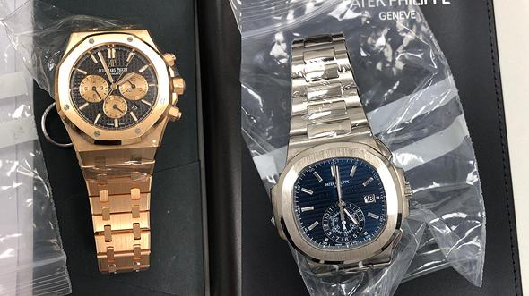 חלק מהשעונים שהוברחו ונתפסו, צילום: דוברות רשות המסים